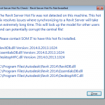 Revit Server Hotfix Check