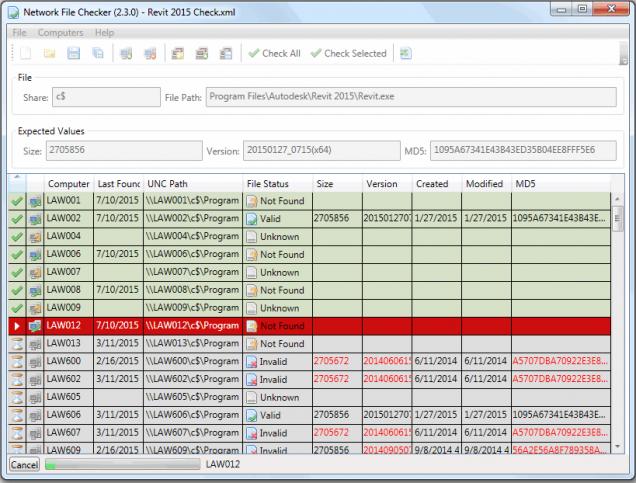 Network File Checker